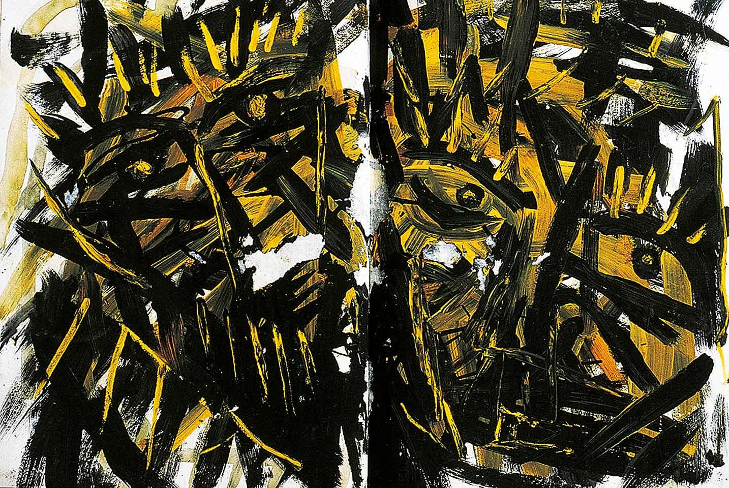 Norbert Klora, Junge Wilde Malerei 03, 1983