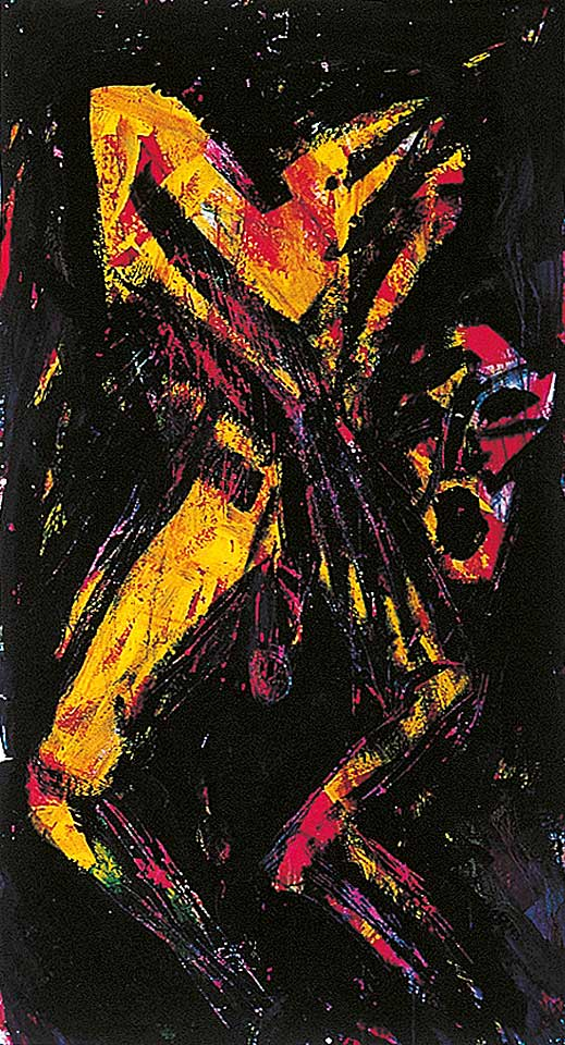 Norbert Klora, Junge Wilde Malerei 04, 1983