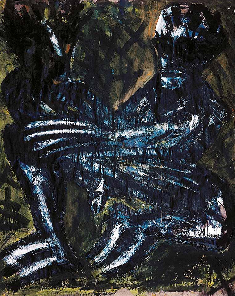 Norbert Klora, Junge Wilde Malerei 05, 1983