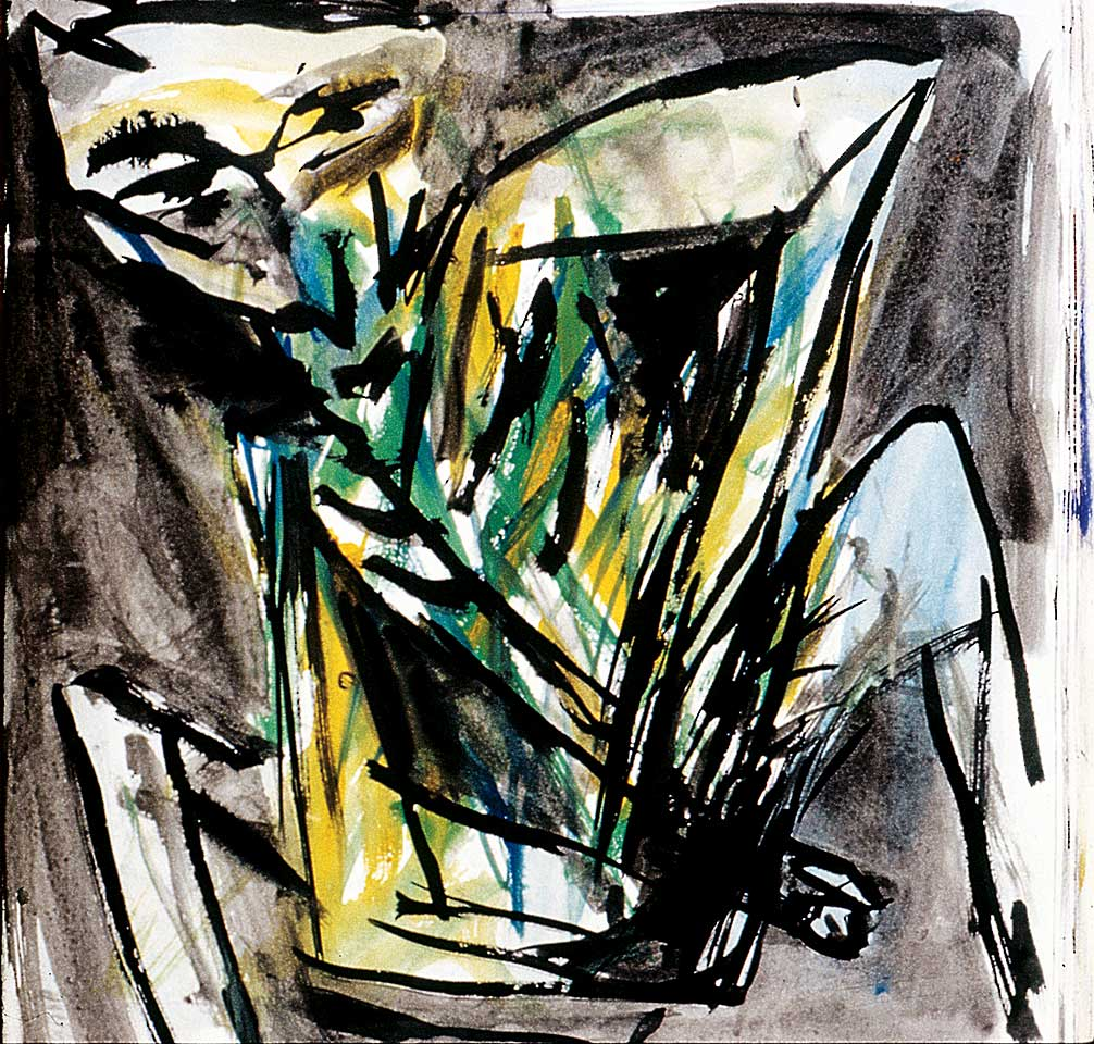 Norbert Klora, Junge Wilde Malerei 12, 1983