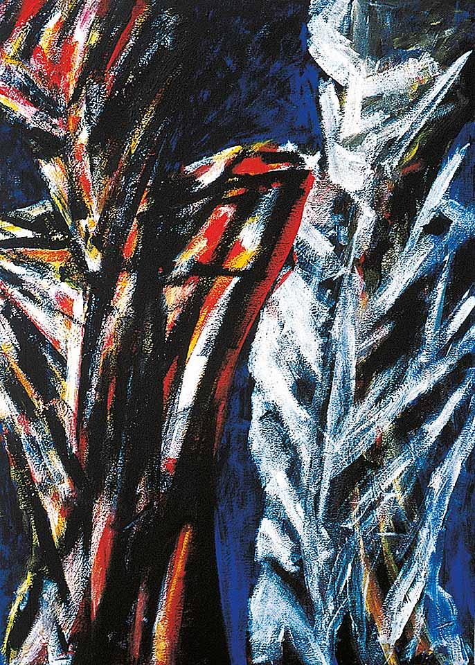 Norbert Klora, Junge Wilde Malerei 17, 1984