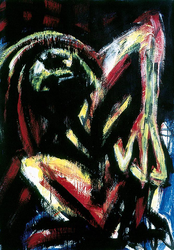 Norbert Klora, Junge Wilde Malerei 19, 1984