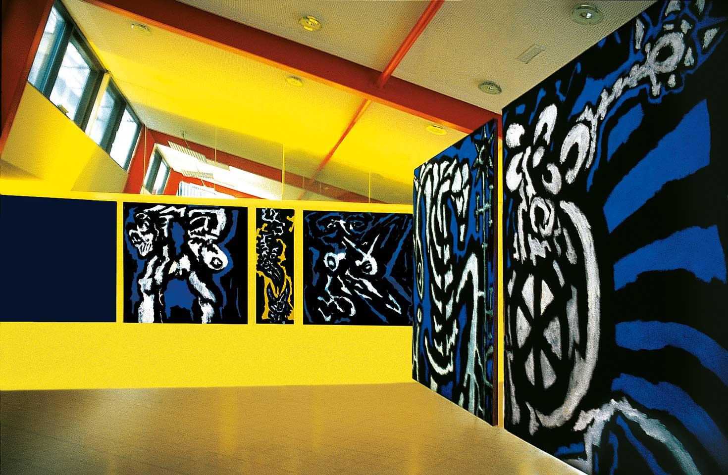 Norbert Klora, Prefigurations 07, Installation in Linz, Johannes-Kepler-University
