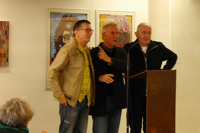 Vernissage; Exhibition TRACKS:FINDER; Ausstellung SPUREN:FINDER; Norbert Klora; Burchard Vossmann; Dr. Norbert Hilbig