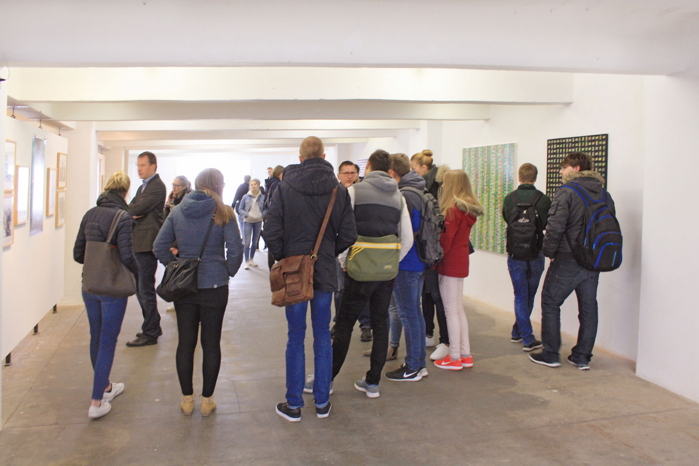 Vernissage; Exhibition TRACKS:FINDER; Ausstellung SPUREN:FINDER; Norbert Klora; Burchard Vossmann